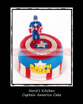Norie's Kitchen - Captain America Cake