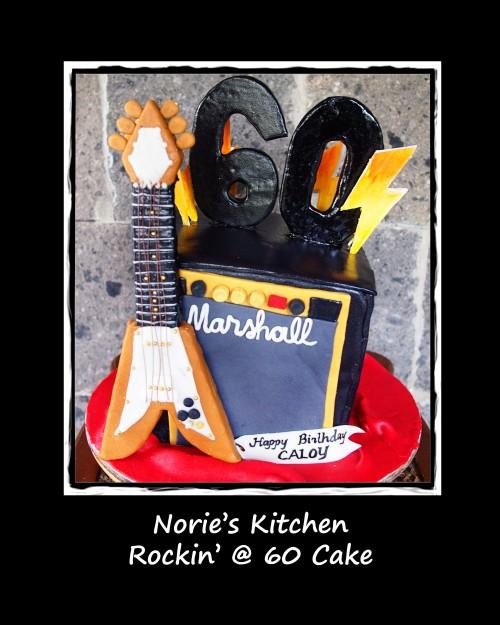 Norie's Kitchen - Rockin at 60 cake
